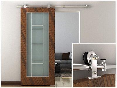 6.6FT European Modern Stainless Steel Sliding Barn Wood Door Closet Hardware Set