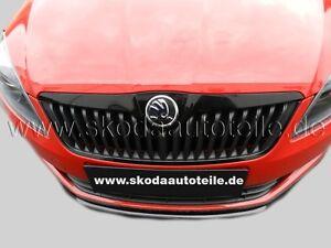 NEU Skoda Fabia 2,Roomster Facelift Monte Carlo KÜHLERGRILL+LEISTE BLACK Metalic