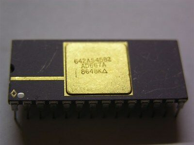 2 Analog Devices Ad667a 12-bit Buffer Cdip Da Converter Ics