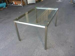 Glass & Chrome Frame Tables - 17 X TABLES - 2 SIZES AVAILABLE