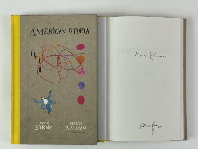 """DAVID BYRNE SIGNED AUTOGRAPH """"AMERICAN UTOPIA"""" BOOK - TALKING HEADS, VERY RARE!"""