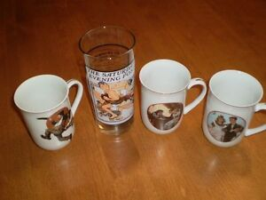 NORMAN ROCKWELL COLLECTOR PLATES MUGS AND GLASSES Windsor Region Ontario image 3