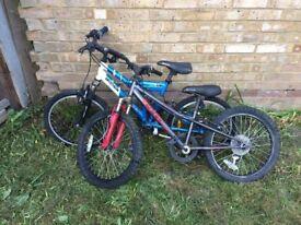 "2x boys bike - Decathlon Rock Rider and Apollo Spider - 20"" - spares/repair"