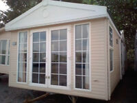 Static caravan 39 x 12 ft / 1 bedroom caravan with double glazing and central heating