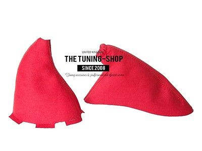 For Honda Civic Type R EP3 01-05 Shift & E Brake Boot Red Suede