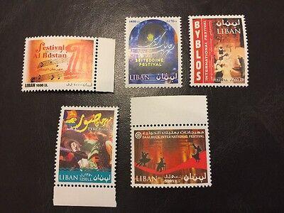 Lebanon 2003 MNH Stamp Set Festivals Beiteddine Baalbek Bustan