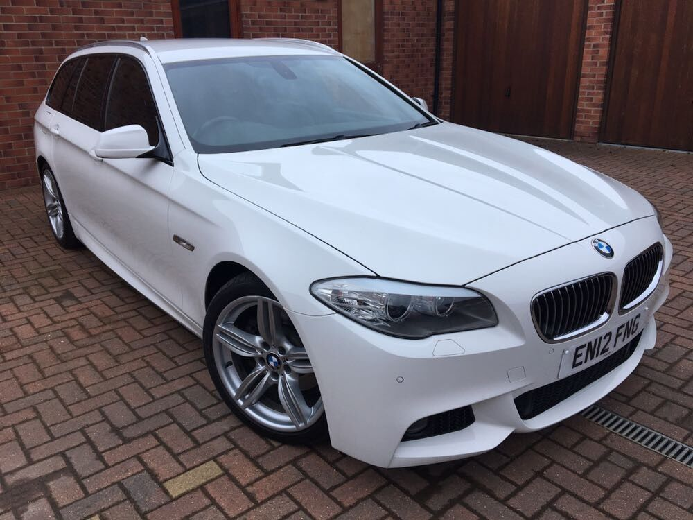 2012 bmw 520d m sport touring alpine white full bmw service history in broughton. Black Bedroom Furniture Sets. Home Design Ideas