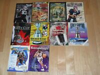 Limited Edition RARE NFL CFL NBA Super Bowl Grey Cup Programs