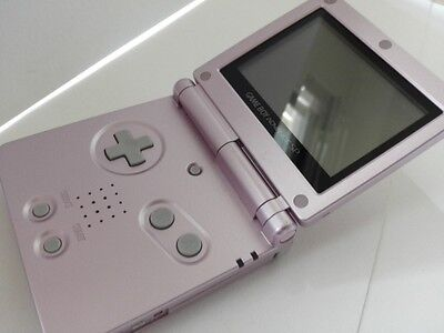 Used Nintendo GAMEBOY ADVANCE SP CONSOLE AGS-001 Pearl Pink color tested-J1-