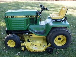 Wanted: John Deere 420 tractor or attachments