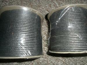 "Flexible Graphite Packing Bulk Braid 1/8"" Square New2 lb rolls"