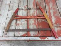 antique buck saw (red)