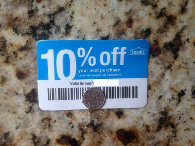 20x L0WES 10% Blue Card Discount Cards for Home Depot only Expires 1/15/2022