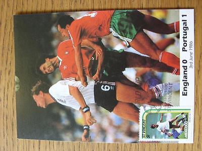 03/06/1986 World Cup Postcard: England v Portugal (stamped/franked - St Vincent,