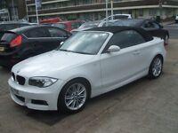 BMW 1 SERIES 120D M SPORT CONVERTIBLE (white) 2012