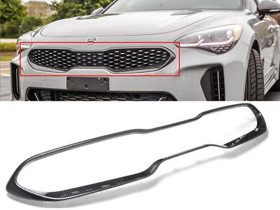 Genuine Carbon Fiber Front Radiator Grille Trim Molding (Fit: KIA 2018+ Stinger)