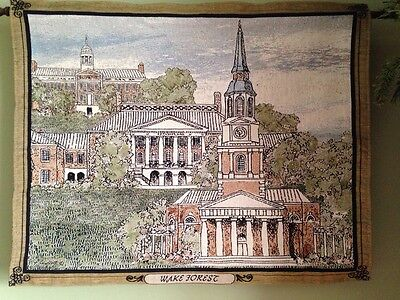 - Wake Forest University Campus Winston-Salem NC Tapestry Wall Hanging Banner NEW