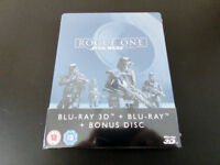 Star Wars Rogue One 3D+BR (3 Disc) Limited Edition Steelbook Sealed
