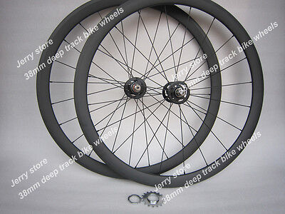 38mm tubular fixed gear single speed wheels,700C full carbon fiber bike parts