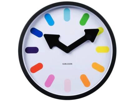 "Designer KARLSSON ""Pictogram"" Rainbow Wall Clock"