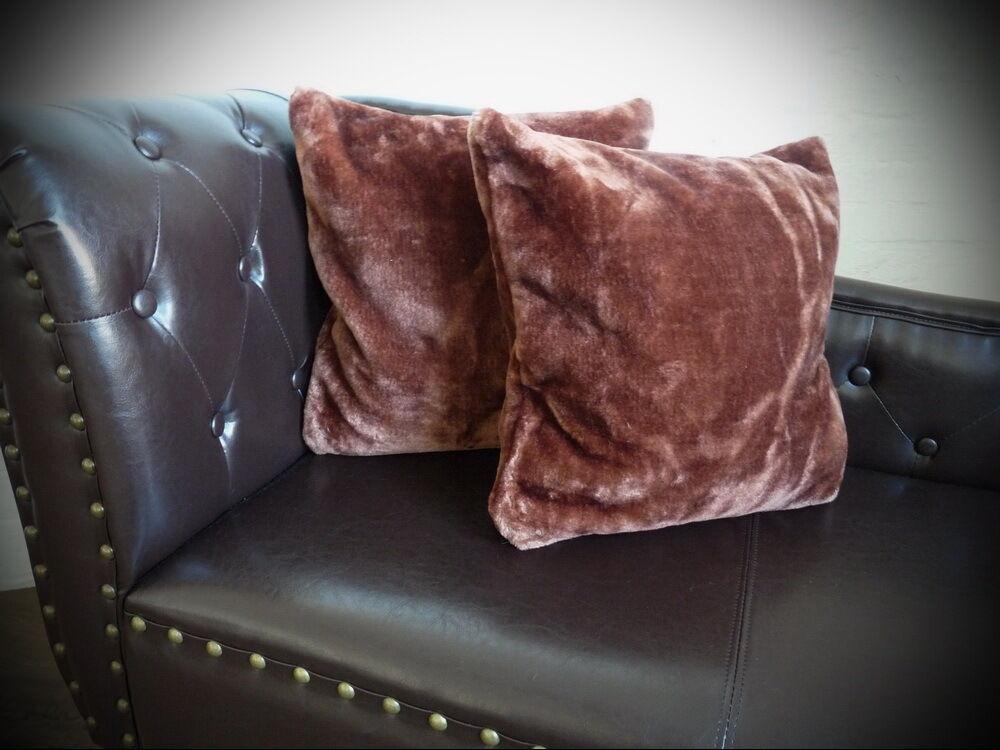 3tlg set luxus tagesdecke kuscheldecke decke dunkel braun 2 kissen 40x40 eur 50 50. Black Bedroom Furniture Sets. Home Design Ideas