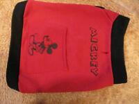 Dog Clothing - Red Mickey Top