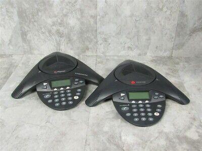 Lot Of 2 Polycom Soundstation2 2201-16200-601 Conference Phones