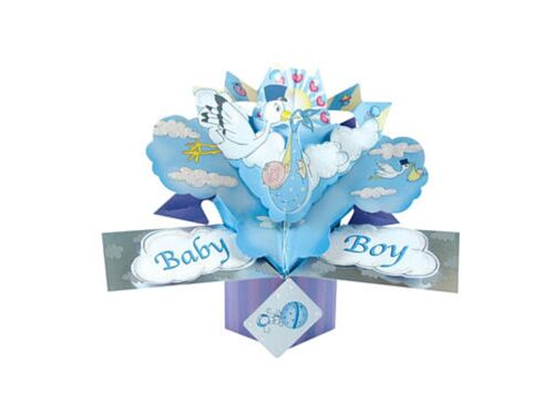 "6½"" Pop ~ Up Card ~ Baby Boy Greeting Card"