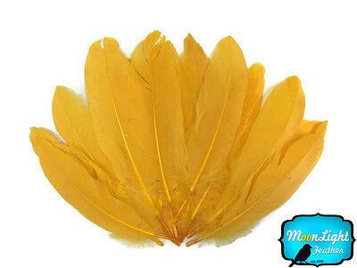 1/4 lb - Golden Yellow Goose Satinettes Wholesale Loose Feathers Craft - Wholesale Craft Suppliers