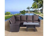 **FREE & FAST UK DELIVERY** Outsunny 5 Piece Rattan Garden Corner Sofa Set - BRAND NEW!