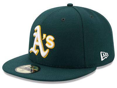 New Era Oakland Athletics ROAD 59Fifty Fitted Hat (Green) MLB Cap - Green New Era Hats