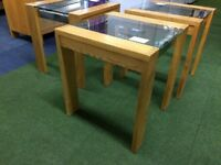 Solid Oak Lamp Stands