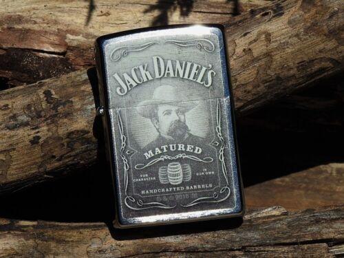 Zippo Lighter - Jack Daniels Matured - Old No. 7 - European - Cameo - Whiskey