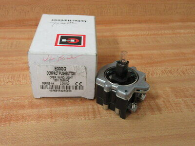 Cutler Hammer E30gg Eaton Compact Pushbutton Wo Buttons