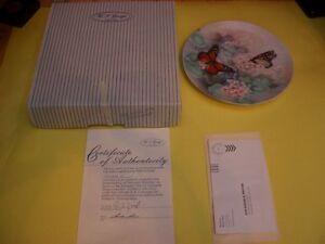 1988 MONARCH BUTTERFLIES LENA LIU COLLECTORS PLATE London Ontario image 3