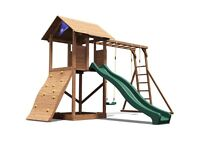 Dunster House MaxiFort Frontier Climbing Frame with Slide and Swings