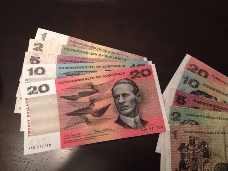 Reproduction Australia Decimal Banknotes $1 $2 $5 $10 $20 1966 Dollars 1st Issue