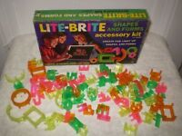 Vintage Lite Brite Shapes and Forms plus numbers