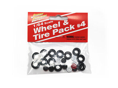 Johnny Lightning wheel/Tire pack #4 (Off Road) (12 Tires/12 Wheels) 1:64 Scale