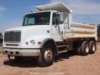 2001 Freightliner FL112 T/A 18' Bed Dump Truck Cummins M11 PTO 10 Speed bidadoo