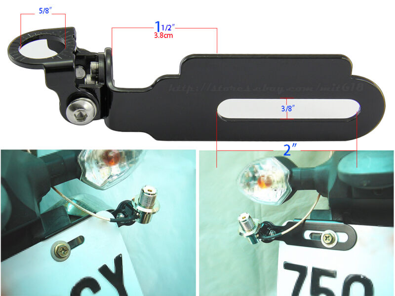 Antenna Adjustable Mount bracket Car Mobile radio  for motorcycle License Plate