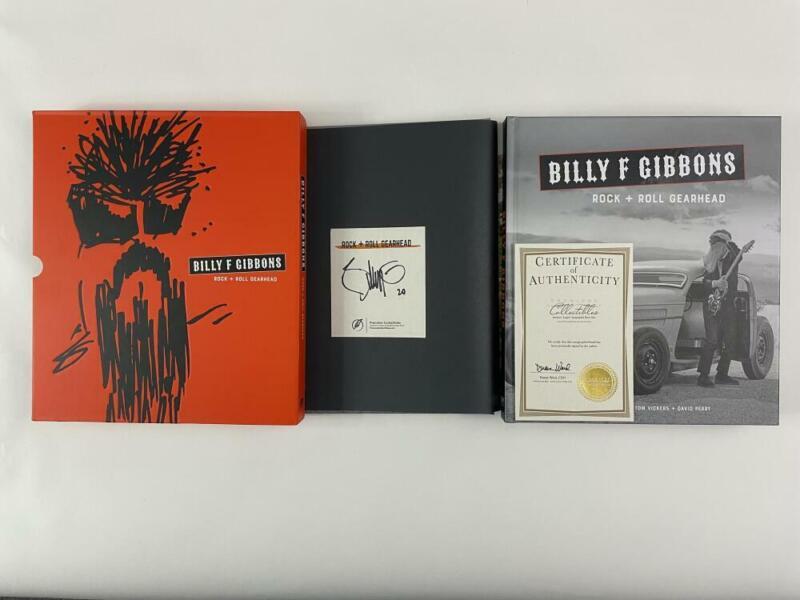 "BILLY GIBBONS SIGNED AUTOGRAPH ""ROCK + ROLL GEAR HEAD"" BOOK W/ CASE - ZZ TOP B"
