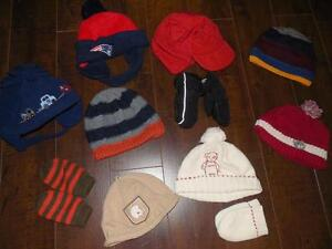 Winter Hats and Mitts - Boys size 6-12 months