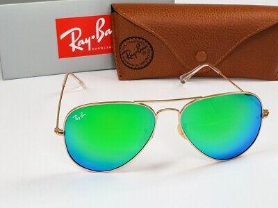 Ray-Ban RB3025 AVIATOR GREEN MIROR FLASH LENSES 112/19 Gold Frame - 58mm (Ray Ban Aviator Flash Lenses)
