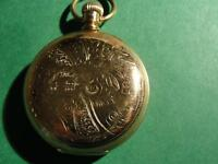 ANTIQUE POCKET WATCH CROWN-FAHYS Monarch No1 gold case-1890s