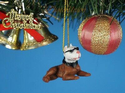 Hood Hounds Slick Brindle Pit Bull Dog Christbaumschmuck Xmas Ornament Dekor 85C (Pitbull Schmuck)
