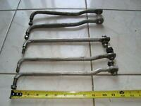 Stainless steel  Outboard motor steering arms and cheaper ones