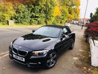 BMW 2 SERIES 218i Sport 2016 (66 REG) AUTO CONVERTIBLE 1.5 2DR NOT PRIUS VW MERCEDES AUDI LEXUS