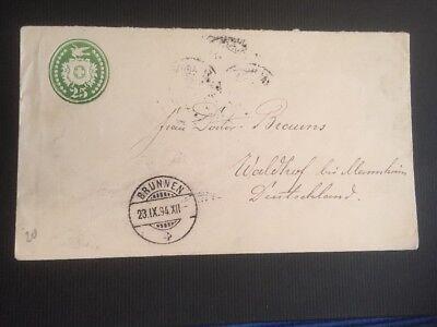 Switzerland Schweiz 🇨🇭 Switzerland 1894 Stationery cover Brunnen to Waldhof