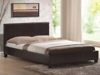 🍭 BRAND NEW 🍭 COFFEE BROWN 🍭 PU LEATHER DOUBLE BED 🍭 DELIVERY 🍭 SIZES AND MATTRESSES AVAILABLE